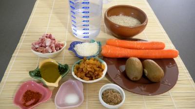Ingrédients pour la recette : Riz à la noix de coco