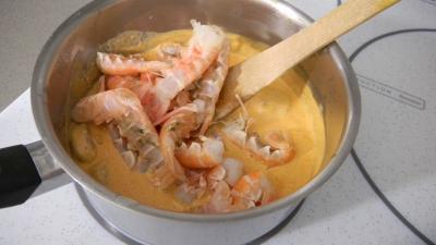 Feuilletés de langoustines et de crevettes - 7.3