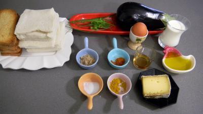 Ingrédients pour la recette : Canapés aux aubergines