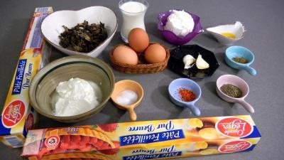 Ingrédients pour la recette : Tarte au fromage blanc et au chèvre