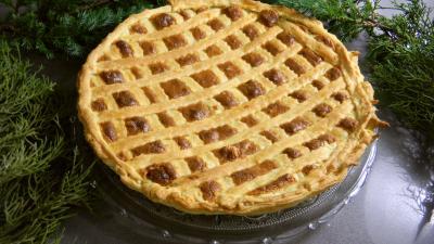 champignon des bois : Plat de tarte au fromage blanc et au chèvre