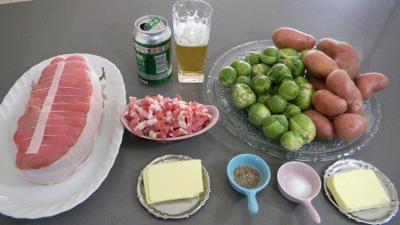 Ingrédients pour la recette : Rôti de veau à la flamande