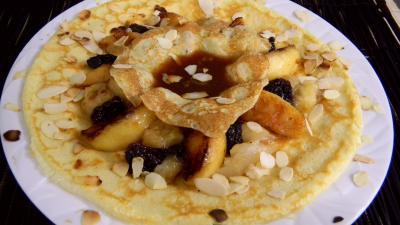 Recettes rapides : Assiette de crêpes aux fruits frais
