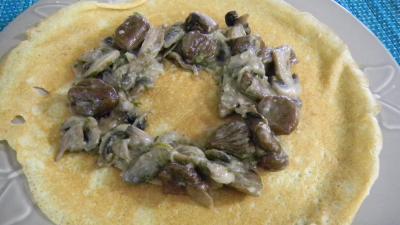 Crêpes aux ris de veau, châtaignes et champignons - 10.2