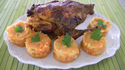 Recette Poulet sauce soja et sa purée de carottes