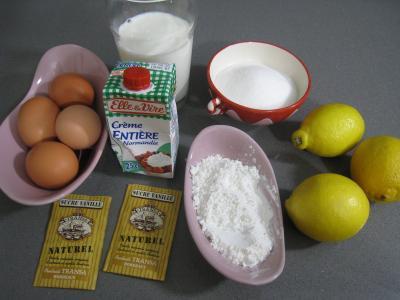 Ingrédients pour la recette : Crème pâtissière au citron
