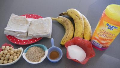 Ingrédients pour la recette : Beignets croustillants chinois à la banane