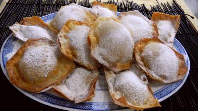 Image : Assiette de beignets croustillants à la banane