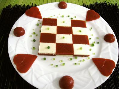 Amuse-bouche moléculaire à la tomate et mozzarella - 18.2
