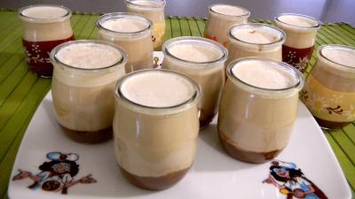 Recette Pots de yaourts aux carambars et au caramel