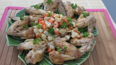 Recette Ailerons de poulets sautés aux navets