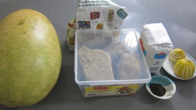 Ingrédients pour la recette : Pastèque en gelée au sucre entier