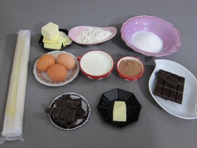 Ingrédients pour la recette : Tarte au chocolat