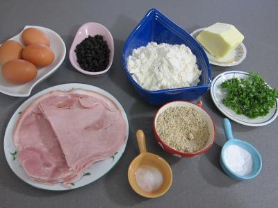 Ingrédients pour la recette : Cake au jambon