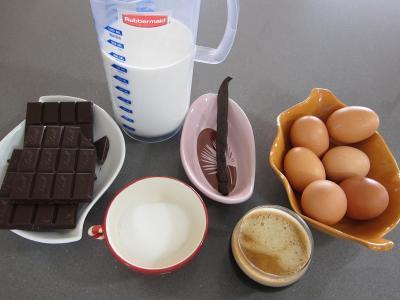 Ingrédients pour la recette : Crème au chocolat à la brésilienne