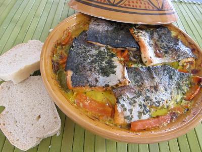 Image : recette Tajine de truite aux carottes et curcuma