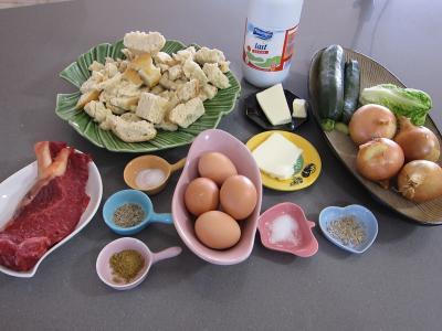 Ingrédients pour la recette : Oignons au pain perdu à l'anis