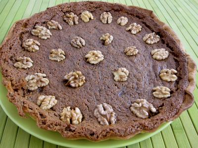 Recette Tarte aux noix à la vanille