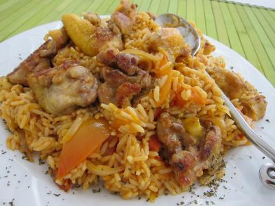 risotto : Assiette de risotto au poulet