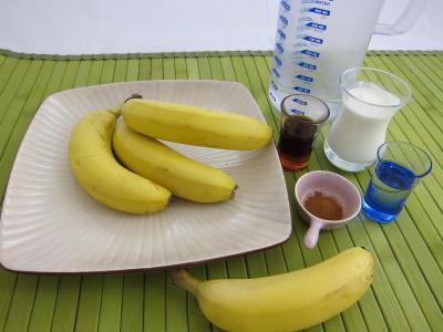 Ingrédients pour la recette : Coulis de bananes à la cannelle