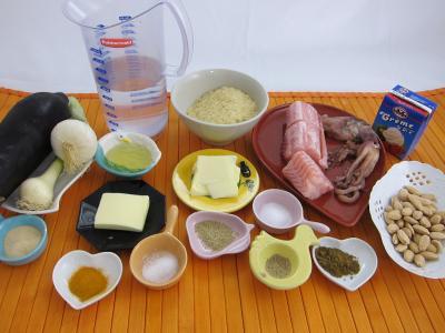 Ingrédients pour la recette : Risotto à la saumonette et encornet