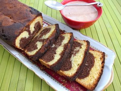 Gâteau marbré au chocolat - 9.3
