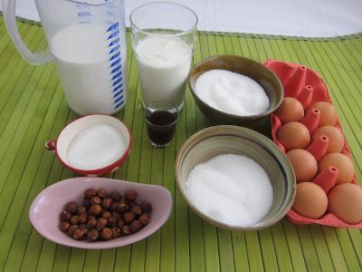 Ingrédients pour la recette : Île flottante à la vanille