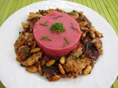 Recette Assiette de betterave et pommes de terre en purée