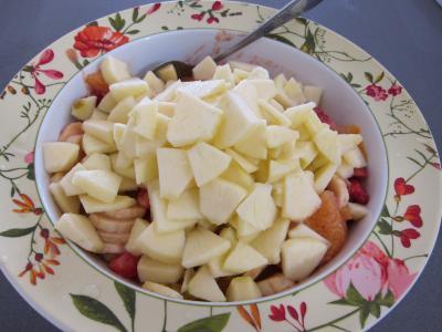 Blinis aux fraises et aux fruits - 7.4