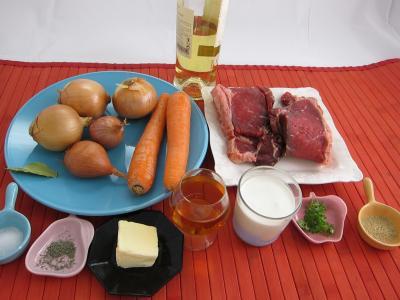 Ingrédients pour la recette : Boeuf façon Stroganov