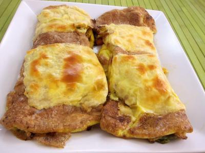 edam : Assiette d'omelette aux carottes et aux légumes