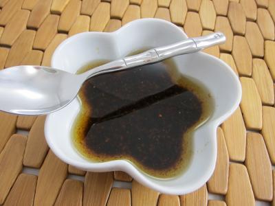 huile de noix : Ramequin de vinaigrette facile et rapide