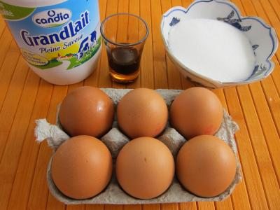 Ingrédients pour la recette : Oeufs au lait faciles