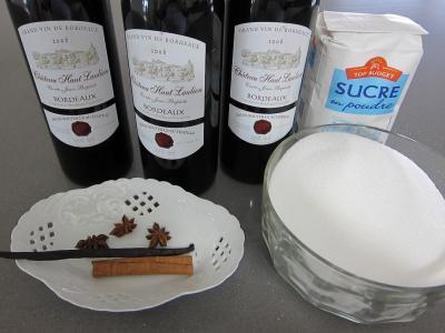 Ingrédients pour la recette : Confit de vin rouge de Bordeaux