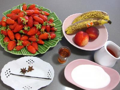 Ingrédients pour la recette : Fraises au kirsch