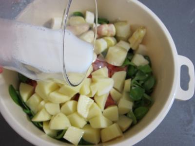 Mâche en velouté et sa gaufrette à la mozzarella - 4.2