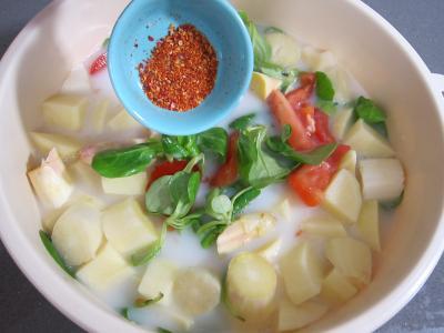 Mâche en velouté et sa gaufrette à la mozzarella - 5.2