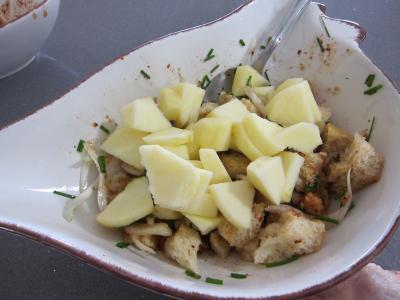 Coquelets au miel et aux pommes caramélisées et aux asperges - 6.2