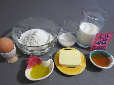 Ingrédients pour la recette : Pancakes au miel