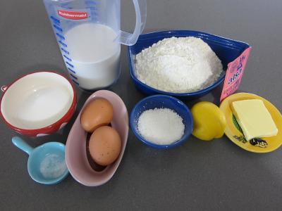 Ingrédients pour la recette : Gaufrettes à la noix de coco au parfum d'Asie