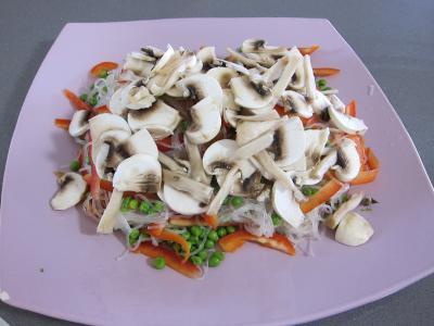 Vermicelle de riz et crevettes en salade - 6.3