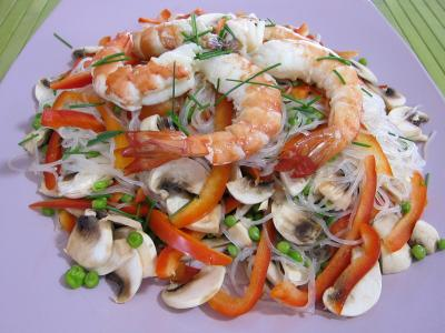 Vermicelle de riz et crevettes en salade - 7.1