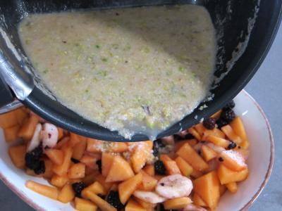Mûres et melon en salade au sirop de noix de coco - 5.2