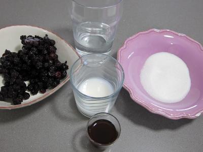 Ingrédients pour la recette : Coulis de mûres