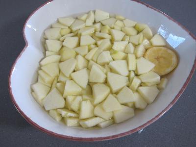 Pudding aux cerises et aux pommes - 1.4