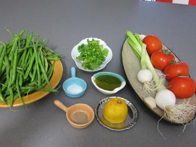 Ingrédients pour la recette : Haricots verts à la portugaise