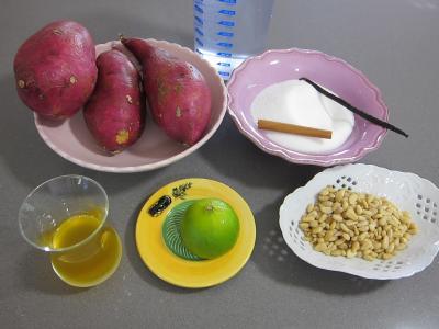 Ingrédients pour la recette : Patates douces au citron vert