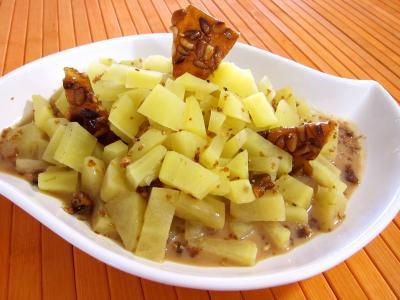 Image : Plat de patates douces au citron vert