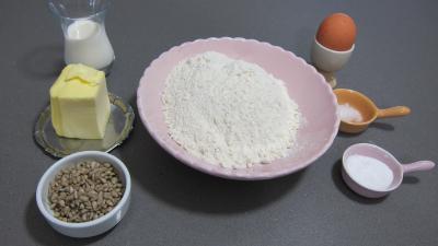 Ingrédients pour la recette : Pâte brisée aux graines de tournesol