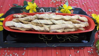 Recette Gressins aux graines de tournesol